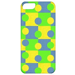 Abric Cotton Bright Blue Lime Apple iPhone 5 Classic Hardshell Case