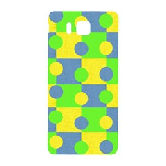 Abric Cotton Bright Blue Lime Samsung Galaxy Alpha Hardshell Back Case by Simbadda