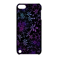 Retro Flower Pattern Design Batik Apple Ipod Touch 5 Hardshell Case With Stand by Simbadda