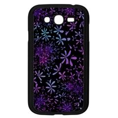 Retro Flower Pattern Design Batik Samsung Galaxy Grand Duos I9082 Case (black) by Simbadda
