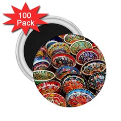 Art Background Bowl Ceramic Color 2 25  Magnets (100 Pack)  by Simbadda