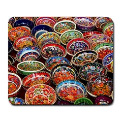 Art Background Bowl Ceramic Color Large Mousepads by Simbadda