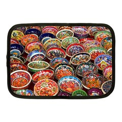 Art Background Bowl Ceramic Color Netbook Case (medium)  by Simbadda