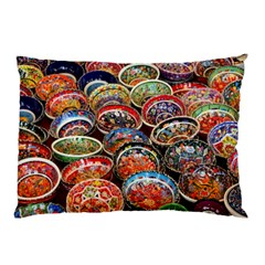 Art Background Bowl Ceramic Color Pillow Case (two Sides) by Simbadda