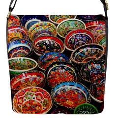 Art Background Bowl Ceramic Color Flap Messenger Bag (s) by Simbadda