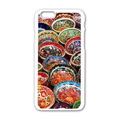 Art Background Bowl Ceramic Color Apple Iphone 6/6s White Enamel Case by Simbadda
