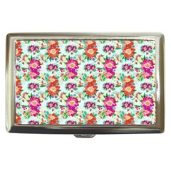 Floral Flower Pattern Seamless Cigarette Money Cases by Simbadda