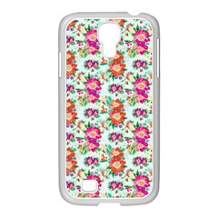 Floral Flower Pattern Seamless Samsung Galaxy S4 I9500/ I9505 Case (white) by Simbadda