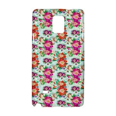 Floral Flower Pattern Seamless Samsung Galaxy Note 4 Hardshell Case by Simbadda