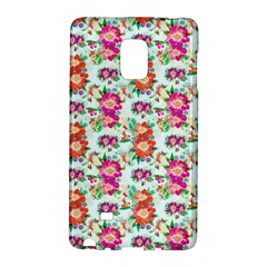 Floral Flower Pattern Seamless Galaxy Note Edge by Simbadda