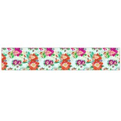 Floral Flower Pattern Seamless Flano Scarf (large)