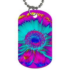 Retro Colorful Decoration Texture Dog Tag (one Side) by Simbadda