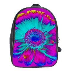 Retro Colorful Decoration Texture School Bags (XL)  by Simbadda