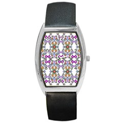 Floral Ornament Baby Girl Design Barrel Style Metal Watch by Simbadda