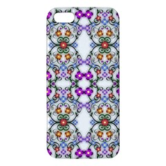 Floral Ornament Baby Girl Design Apple Iphone 5 Premium Hardshell Case by Simbadda
