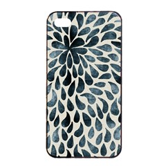Abstract Flower Petals Floral Apple Iphone 4/4s Seamless Case (black) by Simbadda