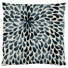 Abstract Flower Petals Floral Large Flano Cushion Case (One Side) by Simbadda