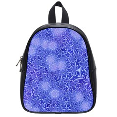Retro Flower Pattern Design Batik School Bags (small)  by Simbadda