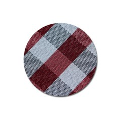 Textile Geometric Retro Pattern Magnet 3  (round) by Simbadda