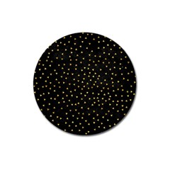 Grunge Retro Pattern Black Triangles Magnet 3  (round) by Simbadda