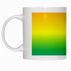 Rainbow Background Colourful White Mugs by Simbadda