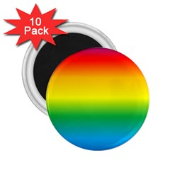 Rainbow Background Colourful 2 25  Magnets (10 Pack)  by Simbadda
