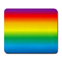 Rainbow Background Colourful Large Mousepads by Simbadda