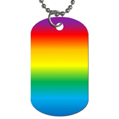 Rainbow Background Colourful Dog Tag (two Sides) by Simbadda