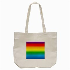 Rainbow Background Colourful Tote Bag (cream) by Simbadda