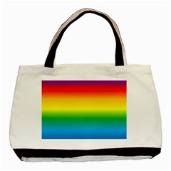 Rainbow Background Colourful Basic Tote Bag by Simbadda