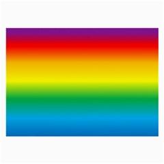 Rainbow Background Colourful Large Glasses Cloth by Simbadda