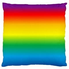 Rainbow Background Colourful Standard Flano Cushion Case (two Sides) by Simbadda