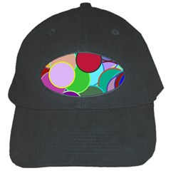 Dots Circles Colorful Unique Black Cap by Simbadda