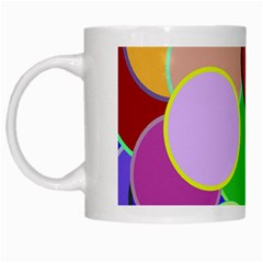 Dots Circles Colorful Unique White Mugs by Simbadda