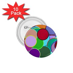 Dots Circles Colorful Unique 1 75  Buttons (10 Pack) by Simbadda