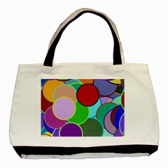 Dots Circles Colorful Unique Basic Tote Bag (two Sides)