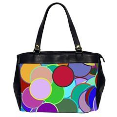 Dots Circles Colorful Unique Office Handbags (2 Sides)  by Simbadda