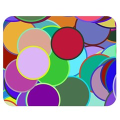Dots Circles Colorful Unique Double Sided Flano Blanket (medium)  by Simbadda