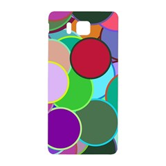 Dots Circles Colorful Unique Samsung Galaxy Alpha Hardshell Back Case by Simbadda