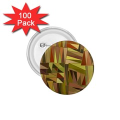 Earth Tones Geometric Shapes Unique 1 75  Buttons (100 Pack)  by Simbadda