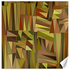 Earth Tones Geometric Shapes Unique Canvas 16  X 16   by Simbadda