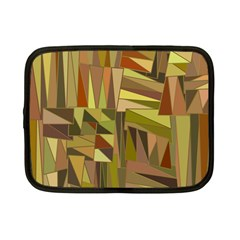Earth Tones Geometric Shapes Unique Netbook Case (small)  by Simbadda