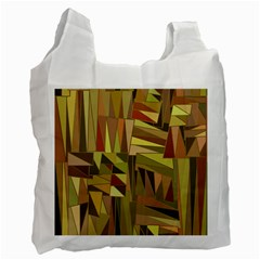 Earth Tones Geometric Shapes Unique Recycle Bag (two Side)  by Simbadda