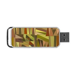 Earth Tones Geometric Shapes Unique Portable Usb Flash (one Side) by Simbadda