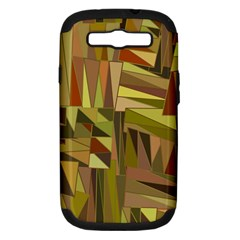 Earth Tones Geometric Shapes Unique Samsung Galaxy S Iii Hardshell Case (pc+silicone) by Simbadda