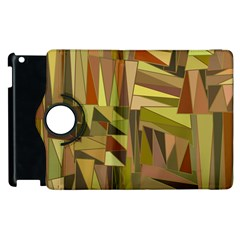 Earth Tones Geometric Shapes Unique Apple Ipad 2 Flip 360 Case by Simbadda