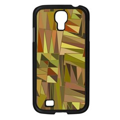 Earth Tones Geometric Shapes Unique Samsung Galaxy S4 I9500/ I9505 Case (black) by Simbadda