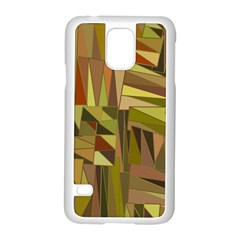 Earth Tones Geometric Shapes Unique Samsung Galaxy S5 Case (white) by Simbadda