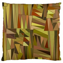 Earth Tones Geometric Shapes Unique Large Flano Cushion Case (one Side) by Simbadda
