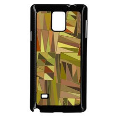 Earth Tones Geometric Shapes Unique Samsung Galaxy Note 4 Case (black) by Simbadda